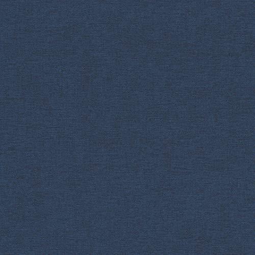 rasch Tapete 449860 aus der Kollektion Florentine II – Einfarbige Vliestapete in sattem Blau – 10,05m x 53cm (L x B)