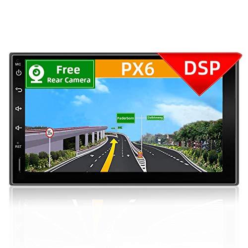 YUNTX PX6 Android 10 Universal Autoradio -Incorporato DSP - [4G Ram+64G Rom] - GPS 2 Din - Telecamera Posteriore Gratuiti - Supporto DAB/Bluetooth 5.0 / Controllo del volante/WiFi / 4G / HDMI/AHD