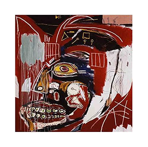 《En este caso》 Jean-Michel Basquiat Cuadro en Lienzo| Lienzos Decorativos | Cuadros Decoración Dormitorios | Cuadros Decoración Salón (75x75cm (30x30inch), Sin marco)