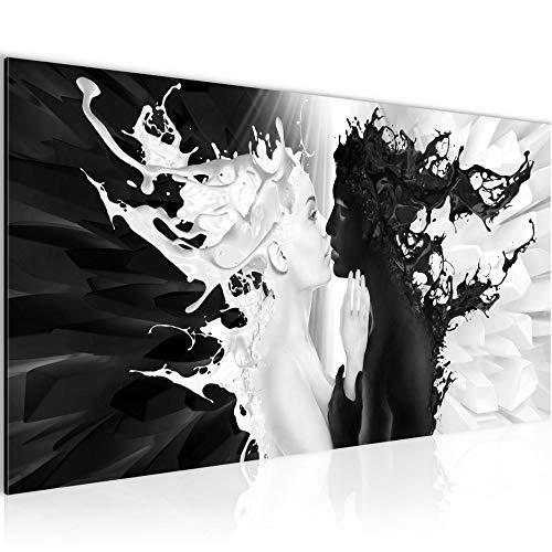 Bilder Milk und Coffee Wandbild Vlies - Leinwand Bild XXL Format Wandbilder Wohnzimmer Wohnung Deko Kunstdrucke Schwarz Weiß 1 Teilig - MADE IN GERMANY - Fertig zum Aufhängen 005012b