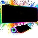 Alfombrilla de Ratón RGB para Juegos Pubioh Alfombrilla de Ratón LED Grande...