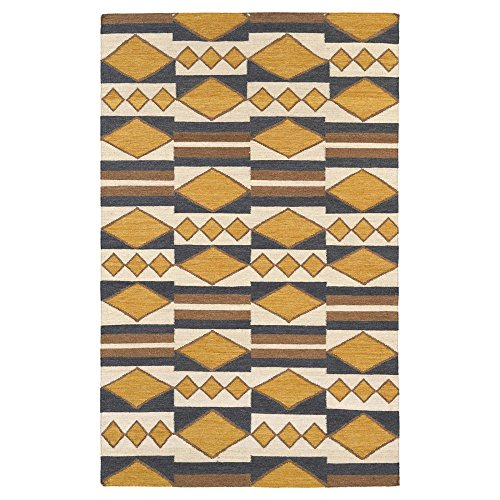 Kaleen Rugs Nomad Collection NOM07-05 Gold Flat-Weave 2' x 3' Rug