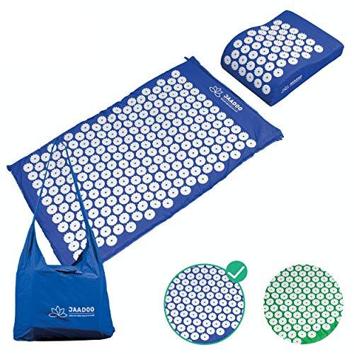 Tappetino per agopressione con forma di cuscino e custodia, tappetino per agopuntura, tappetino per la pressione a batteria, modello 2020, tappetino per agopressione con cuscinetto per agopressione