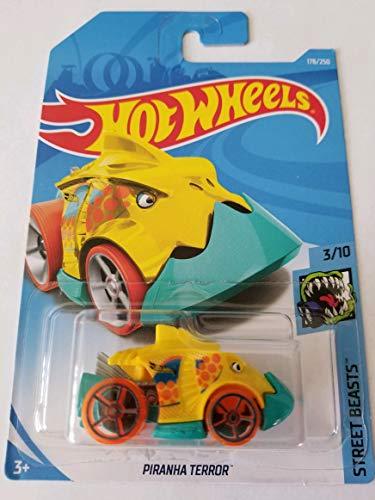 Hot Wheels 2019 Street Beasts 3/10 - Piranha Terror (Yellow)