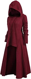 iDeesse Rose GAL Women's Plus Size Long Sleeve Hooded Collar High Low Hem Ribbed Sweater - Red - XXXXX-Large