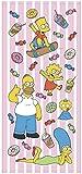 丸眞 フェイスタオル The Simpsons ザ・シンプソンズ 34×75cm ファニーファミリー 綿100% 4935001800