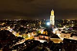 lunaprint Cityscape of Utrecht City at Night with The Dom