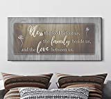 Sense Of Art| Bless The Food Before Us Qoute|Farmhouse Kitchen Decor|Dining Room Wall Decor|Rustic Kitchen Decor|Christian Wall Art|Kitchen Decorations Wall (Brown, 42x19)