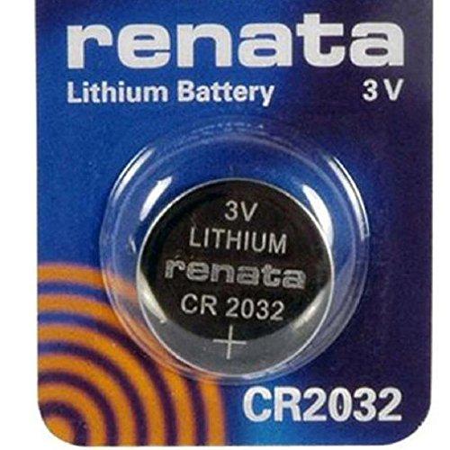Renata CR2032 Lot de 5 piles bouton au lithium 3 V DL2032, ECR 2032, BR 2032