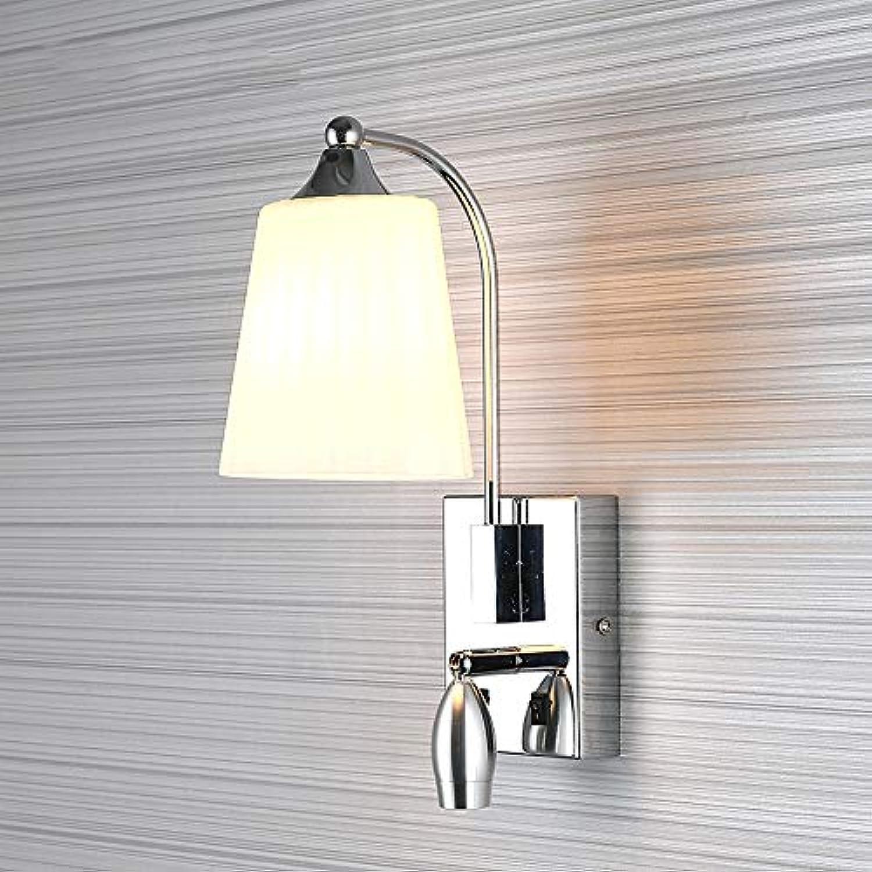 Nordic Wandleuchte, 2 Lichter Creative Nordic Wandleuchte LED Schmiedeeisen Lampe Schlafzimmer Wohnzimmer Esszimmer Dekoration Lampe, warmweies Licht