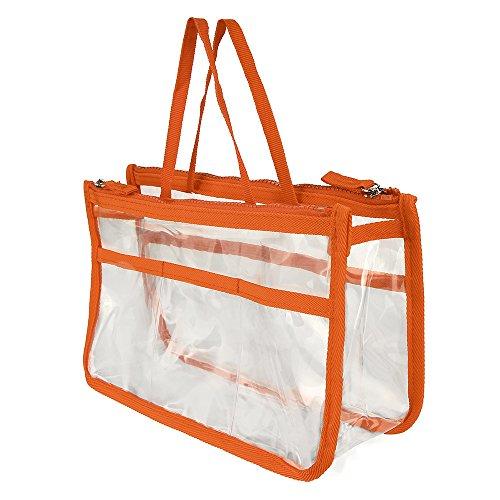 QIFLY Bolsa de artículos de tocador transparente, bolsa de viaje impermeable de PVC transparente, bolsa de viaje, bolsa de maquillaje, para hombres, mujeres y niños