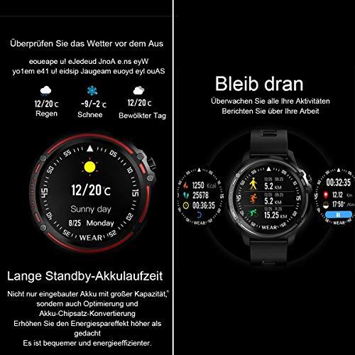 WYAJZHA SmartWatch, Uhr mit 1.2 Zoll Touch Farbdisplay, Blutdruck Fitness Armbanduhr, IP68 wasserdichte Sportuhr mit Blutsauerstoff Monitor Schrittzähler Schlafmonitor, Stoppuhr für Damen Herren