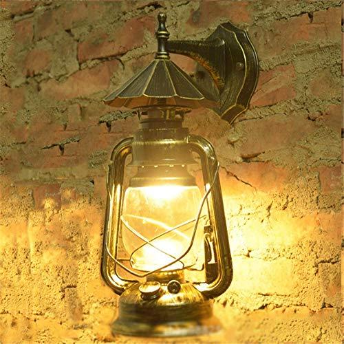Antike Petroleumlampe Im Freien Industrielle Wind-Dachbodenlampe Der Retro- Laterne Chinesische Nostalgische Stangencafé-Gartenbeleuchtung@Grüne Bronze_Lichtquelle Außenwandleuchte Led