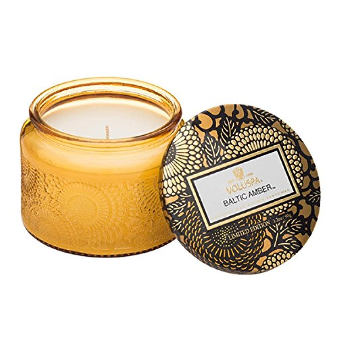 並外れた優先権準拠Voluspa ボルスパ ジャポニカ リミテッド グラスジャーキャンドル  S バルティックアンバー BALTIC AMBER JAPONICA Limited PETITE EMBOSSED Glass jar candle