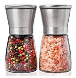 Leesentec Salt and Pepper Grinder Set (Pack Of 2) Stainless Steel Pepper Mill