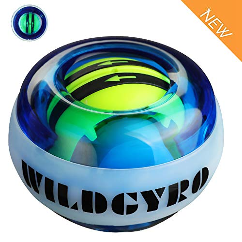 DOTSOG Wrist Trainer Exercises Power Ball Wrist&Forearm Strengthener Essential Auto-Start Spinner Gyro Ball with LED Lights,Without Pull String (Without Digital LCD Counter)