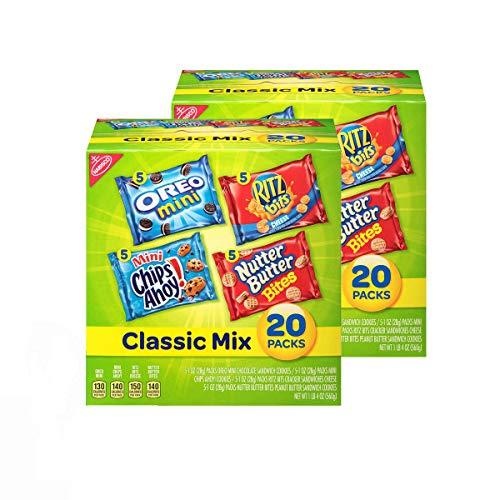 Nabisco Classic Cookie & Cracker Variety Packs - 40 Individual Snack Packs