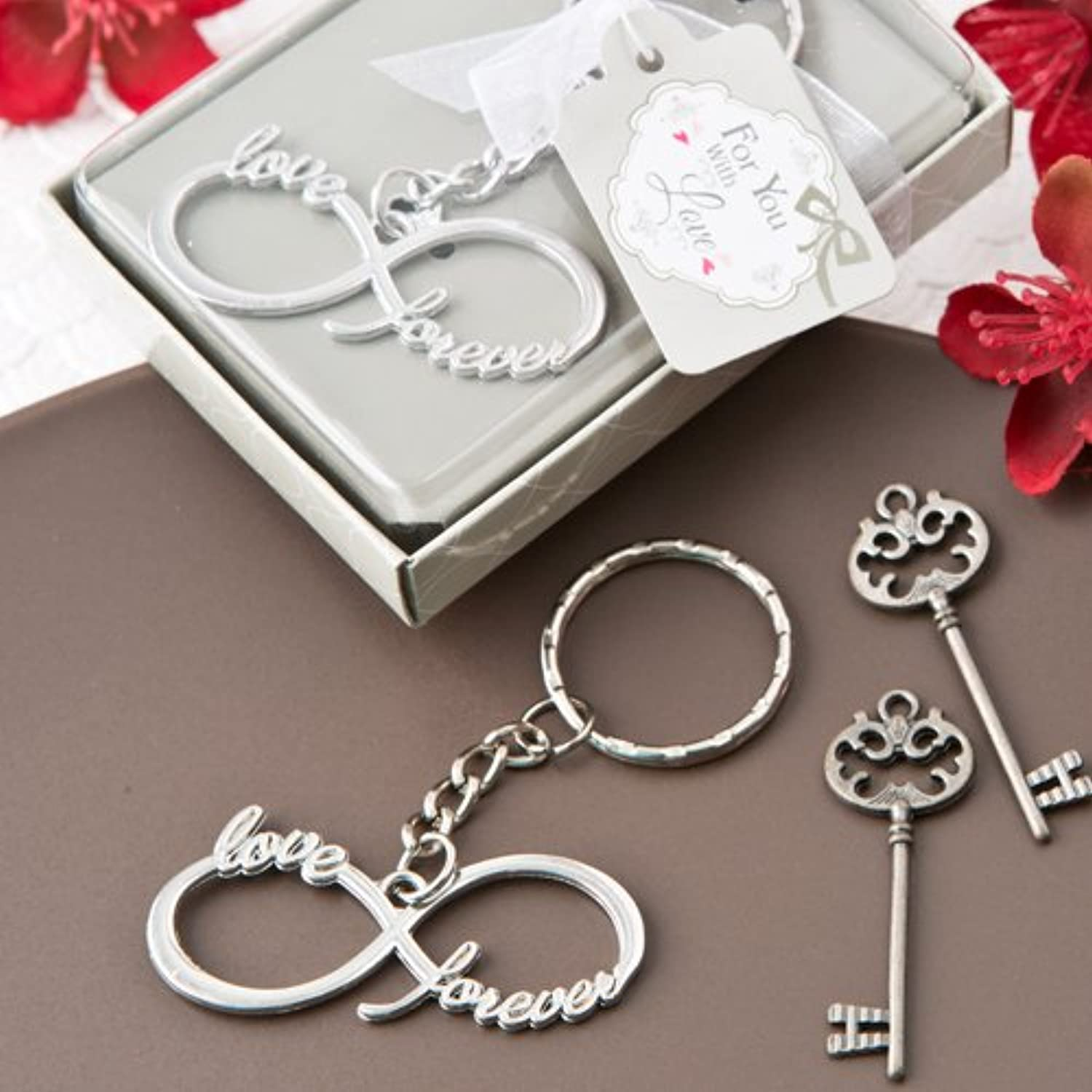 FavorOnline Infinity Design Silver Metal Key Chain, 96