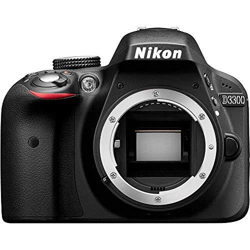 Nikon D3300 24.2MP DX-Format DSLR Digital Camera (Body Only) (1532B) - (Black) - (Renewed)