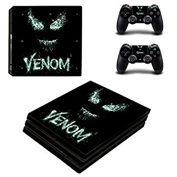 Adventure Games PS4 PRO - Venom From the Dark - Playstation 4 Vinyl Console Skin Decal Sticker + 2 Controller Skins Set