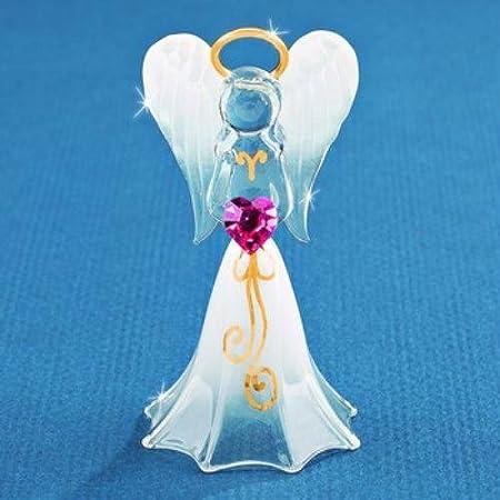 Glass Baron Lavender Angelique Angel Figurine
