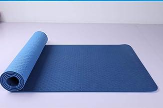 سجادة يوغا مع لون مزدوج - سمك 6 ملم (بحيرة أزرق وأزرق داكن)
