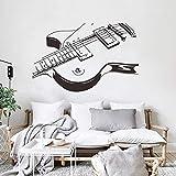Diseño Pop Rock Música Guitarra Violonchelo Instrumento musical Etiqueta de la pared Vinilo Arte Calcomanía Dormitorio Sala de estar Oficina Estudio de música Club Decoración para el hogar Mural