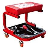 Torin TR6300MO Big Red Rolling Creeper Garage/Shop Seat: Padded Mechanic Stool with Tool Tray, Mossy Oak Camo