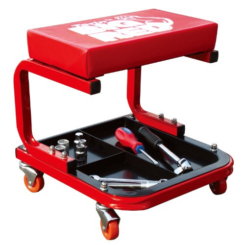 Padded Mechanic Stool with Tool Tray
