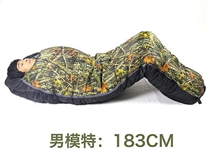 Xinsushp Home Camouflage Sac de Couchage Froid et à l'épreuve de l'humidité épaississement élargi du Sac de Couchage Froid pour Camping extérieur Anti-éclaboussures (Taille   A)