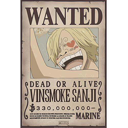 ABYstyle- One Piece - Poster - Wanted Sanji New 2 (52 x 38)