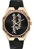 Police Damen-Uhren Analog Quarz One Size Schwarz Leder 32015082