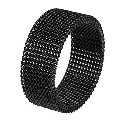 Yinuneronsty - Anillo de aleación de titanio suave de acero para enamorados, anillo de red, anillo para joyas