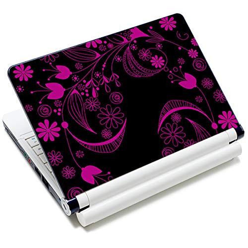Laptop-Aufkleber für Laptops von Toshiba, HP, Samsung, Dell, Apple, Acer, Leonovo, Sony, Asus, 30,5 cm, 33,6 cm, 39,6 cm, wiederverwendbar, mit schönen Blumen