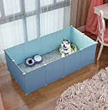 G-KAMP Multipurpose Organiser for Dog/Cats | Playing/Sleeping Cabinet for Dogs/Cats | Foldable House for Dogs/Cats | Bed/Cage for Little Dogs (Blue) (Please Make According to First Image)