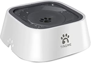 TagME Dog Dripless Water Bowl, Anti-Splash Pet Bowls