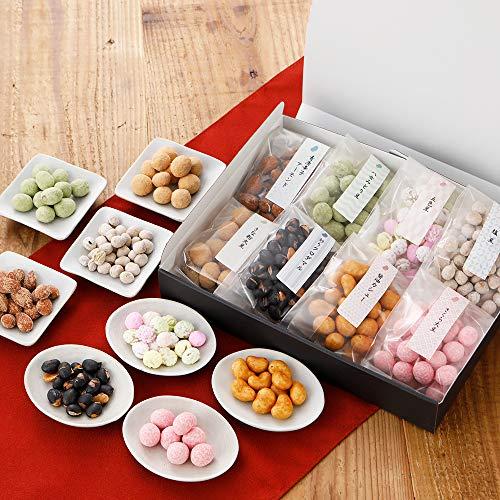 和菓子 博多豆菓子8種セット 母の日カード カーネーション 造花付 お菓子 ナッツ おつまみ 詰め合わせ 母の日ギフト2021 博多久松 お届け日(2021年5月9日)着