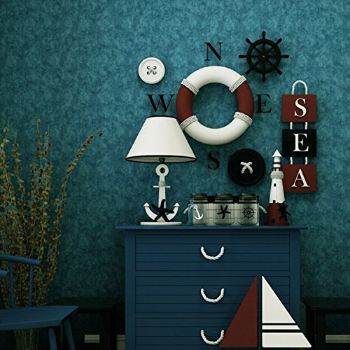 Self Adhesive Retro Solid Color Contact Paper Peel and Stick Removable Non Woven Wallpaper Mural Wall Sticker Decals 20.83 Inches by 9.8 Feet