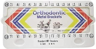 Sino Dental Group Orthodontic Metal Brackets Bondable Mim Mesh Base Standard Size Braces 20pcs/Kit, (MBT, 022)