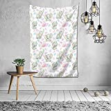 Lindo bebé elefantes plantas flores tapiz, tapiz colgante de pared manta de pared arte de pared para el hogar sala de estar dormitorio decoración de fiesta
