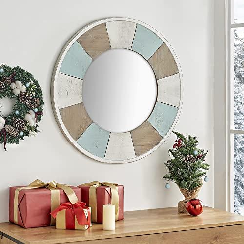 natural wood beach wall mirror decor