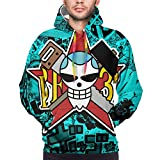 Anime One Piece Luffy Roronoa Zoro Ace Franky Men's Unisex Hoodie Pullover 3D Printing Sweatshirt Sweater Sportswear Tracksuit with Front Pocket Long Sleeve Warm Casual Elasticity Clothes Medium