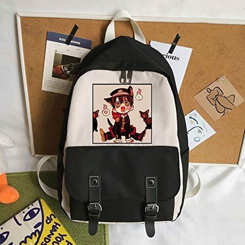 Csqw Anime Cosplay Backpack Sac d'école Rucksack Étudiant Sac à Dos Toile imperméable Hanako-Kun garçon reliée au Sol