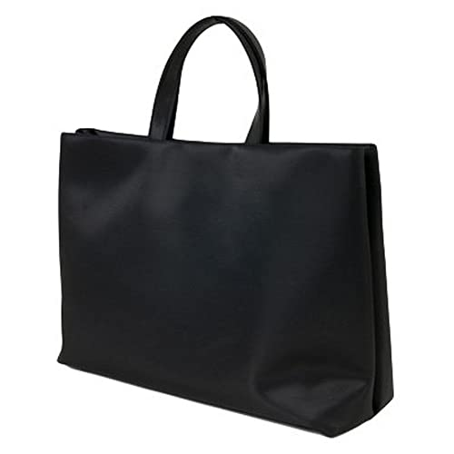[完全自立型バッグ] ナイロンサテン シンプル無地タイプ [黒]