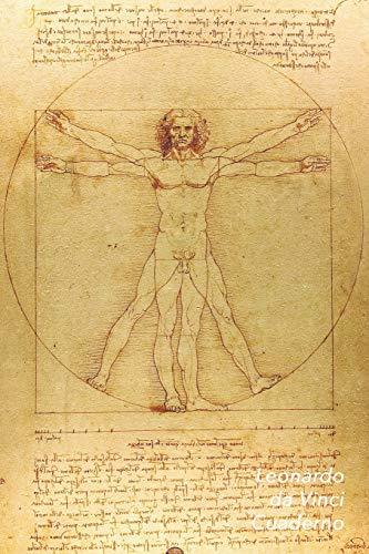 Leonardo da Vinci Cuaderno: Hombre de Vitruvio | Ideal para la Escuela, el Estudio, Recetas o Contraseñas | Perfecto Para Tomar Notas | Diario Elegante