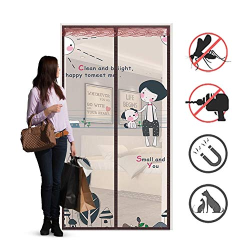 Magnetic Fly Screen Door, Anti-mosquito Curtain, Super Quiet Stripes Encryption, Keep Bug Out Let Fresh Air In for Balcony Sliding Living Room Children's Room/B / 90 * 200CM