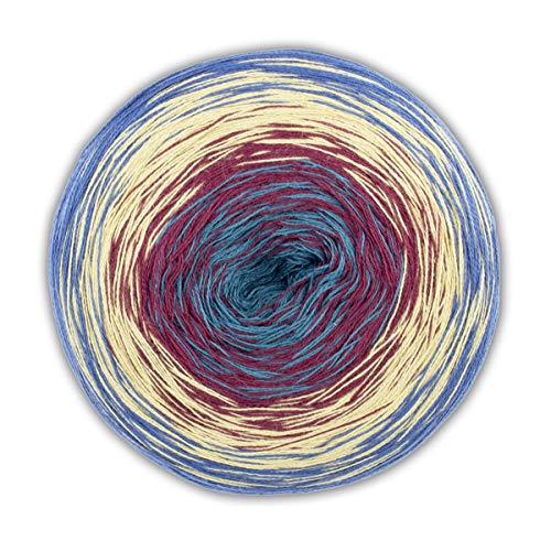 Woolly Hugs Bobbel Cotton Farbe 55, Farbverlaufsgarn zum Stricken oder Häkeln, 200g ca. 800m