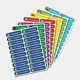 Etiquetas para ropa personalizadas con 1 línea de texto para marcar todas las prendas de los niños para el cole o la guardería 48 unidades