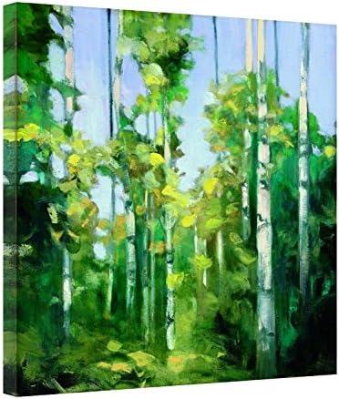 Easy Art Prints Julia Purinton's 'Birches' Premium Canvas Art 30