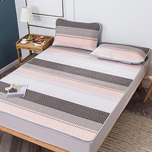 QJJML Doppelmatratze, Sommerklimatisierte Latexmatte Einfache Und Frische Studentenwohnheim Maschinenwaschbare Faltmatte,E-2×2.2M